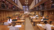 CS Reading room of a library video