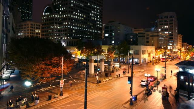 Busy Seattle street video