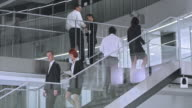 LD Busy staircase and hallways in corporate building video