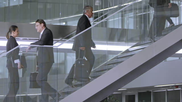 TU Busy staircase of a business building video