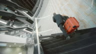 DS Busy staircase of glass building video