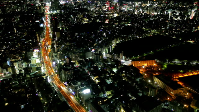 busy street aerial view with Cityscape video