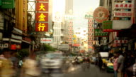 Busy street in Chinatown. video