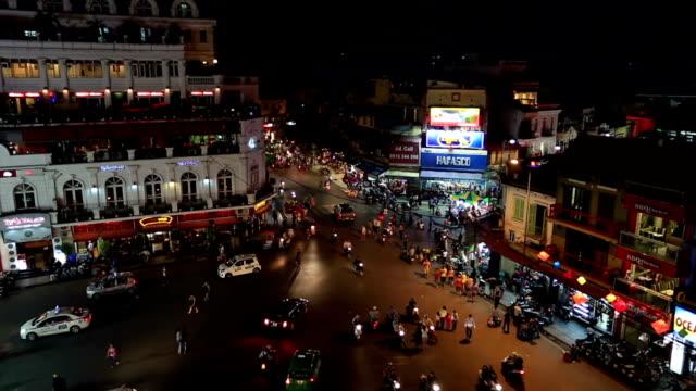 Busy Street Of Hanoi at night, Vietnam video