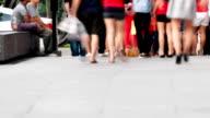 Busy Street Scene video
