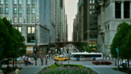 Busy street traffic in downtown Chicago, HD 1080p video