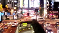 Busy Tokyo Traffic Time Lapse video