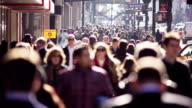 Busy urban crowd video