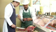 Butcher Teaching Apprentice How To Prepare Meat video