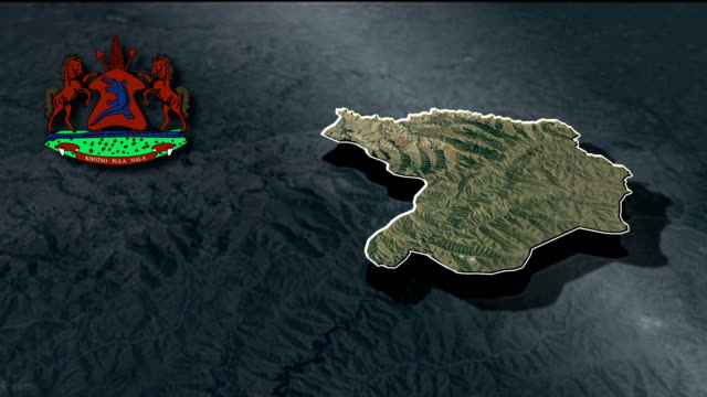 Butha-Buthe with Coat Of Arms Animation Map video