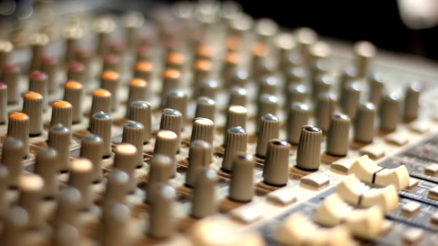 buttons equipment for sound mixer control,selective focus video