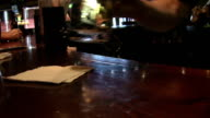 Buying Beer. Transaction in a bar. HD video