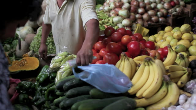 Buying vegetables video
