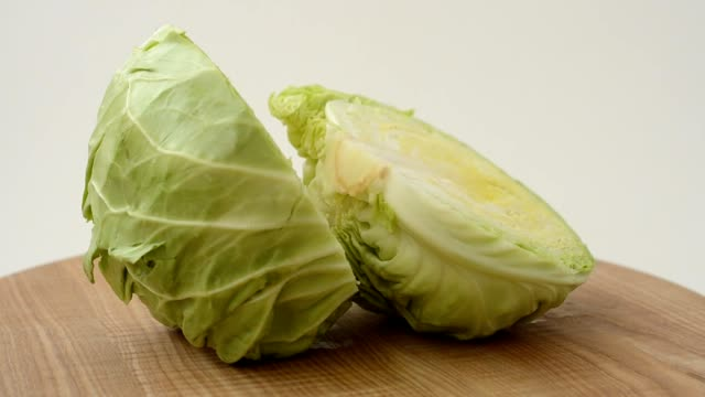 Cabbage on a board. video
