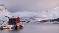 Cabin at Winter Coastline video