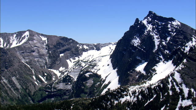 Cabinet Mountain Wilderness  - Aerial View - Montana, Lincoln County, United States video