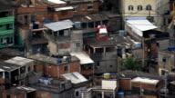Cable Car Across A Favela  - Aerial View - Rio de Janeiro, Rio de Janeiro, Brazil video