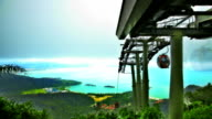 Cable car in mountains video