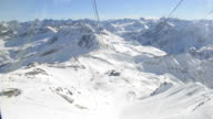 cable car in winter video