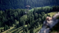 Cable car on the Dolomites video