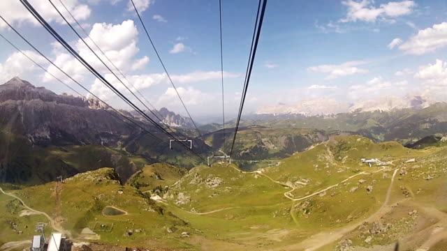 Cable car over the Alps and Dolomites video