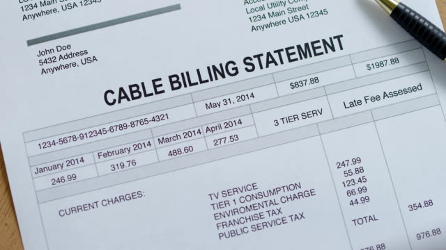 Cable Service Past Due Bill video