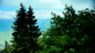 cablecar climbing Niesen mountain video