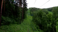 Cableway Chairlift in the summer, Russia video