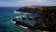 Cabo Sardao, wild coast Atlantic Ocean video