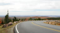 Cadillac Mountain road pan, Acadia National Park, Maine video