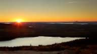 Cadillac Mountain sunset timelapse, Acadia National Park, Maine video