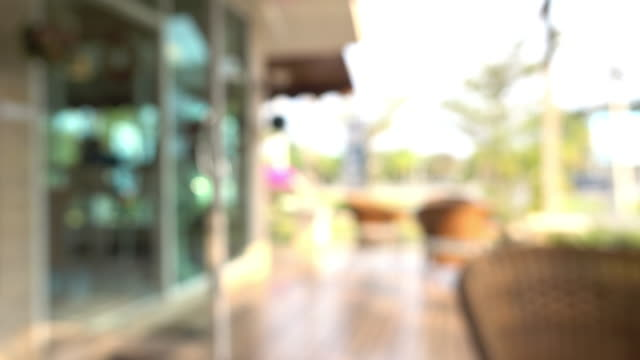 cafe coffee, blur shot video
