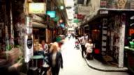 Cafe Laneway in Melbourne, Australia video