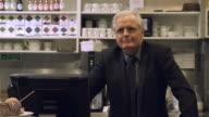 Cafe owner senior man video