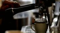 Cafe video: Pouring Espresso Shot video