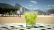Caipirinha Cocktail on Copacabana Beach, Rio de Janeiro video