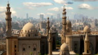 Cairo. Clouds. Egypt. Timelapse video