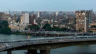 Cairo traffic day to night timelapse video