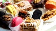 Cake pops in summer garden video