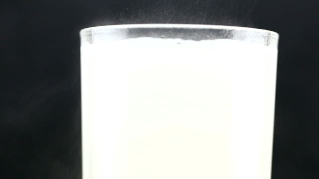 calcium and vitamin in pill Put into a glass of water. video