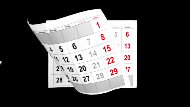 Calendar 2014 animation with alpha video