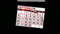 Calendar flicking backwards video