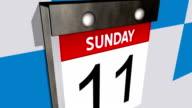 Calendar flipping the days video
