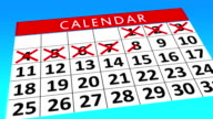 Calendar Month - Score out data Animation video