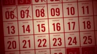 Calendar month showing days being crossed off video