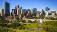 Calgary Skyline Time Lapse video