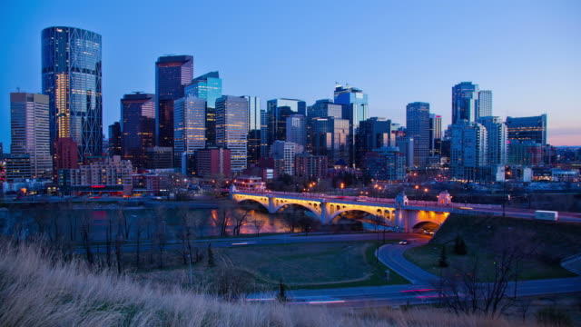 Calgary time lapse sunset video