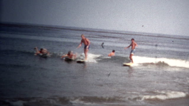 (8mm Vintage) 1968 California Beach Surfing video