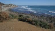 California coastline from the cliffs of Malibu video