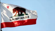 California Flag Floating in the Breeze video
